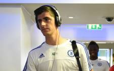Chelsea's goalkeeper Thibaut Courtois, arriving ahead of the Premiership match against Swansea City on 8 August 2015. Picture: Chelsea/Facebook.