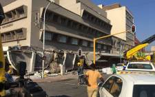 One person died on 9 June 2020 while several people were injured after a structural collapse on Yusuf Dadoo Street in the Durban CBD. Picture: Nkosikhona Duma/EWN