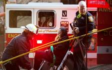 A woman died and at least two people were critically injured after smoke filled a Washington subway car on 12 January 2015. Picture: AFP.