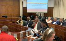 Public Protector Advocate Busisiwe Mkhwebane and officials from her office on 18 October 2019 briefed parliament's justice and correctional services committee about her office's annual performance in the 2018/19 financial year. Picture: Babalo Ndenze/EWN