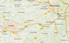 A Googlemaps screengrab of the German city of Ansbach where a gunman is reported to have killed at least two people.