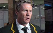 Springbok captain Jean de Villiers has suffered another injury set-back and has been ruled out for four weeks with a fractured jaw. Picture: Reinart Toerien/EWN.