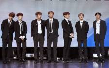 FILE: Members of South Korean pop group BTS after a performance during a Korean cultural event as part of South Korean President official visit in France, on 14 October 2018 in Paris. Picture: AFP