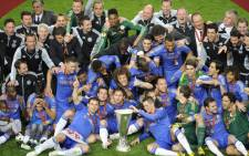 Chelsea were crowned Europa Champions after beating Benfica 2-1 on 15 May 2013 at the Amsterdam Arena. Picture: AFP