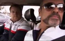 James Corden and George Michael on Carpool Karaoke. Picture: YouTube screengrab.