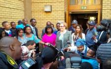 FILE: DA leader Helen Zille addresses the media outside the North Gauteng High Court on 4 September, 2014. Picture: Twitter via DA_News.