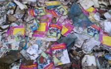 The Democratic Alliance found textbooks being destroyed at a warehouse in Fort Beaufort, in the Eastern Cape. Picture: DA