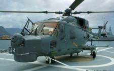 An AgustaWestland Super Lynx 300 helicopter acquired in the arms deal.