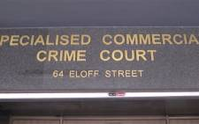 Specialised commercial crime court in Johannesburg. Picture: Kgothatso Mogale/EWN