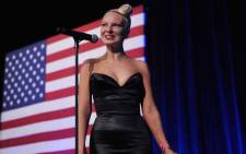 Australian singer and songwriter Sia smiles as she finishes her performance at the Democratic National Committee LGBT Gala at Gotham Hall on June 17, 2014 in New York, New York. Picture: AFP.