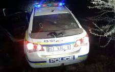 Police officers shot and killed two men in this fake cop car in Midrand on 3 September 2014. Picture: Supplied to EWN