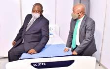 FILE: President Cyril Ramaphosa and KZN Premier Sihle Zikalala on 5 May 2020. Picture: @PresidencyZA/Twitter.