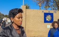 FILE: Johannesburg health MMC Mpho Phalatse outside Sophiatown police station on 12 June. Picture: Kayleen Morgan/EWN