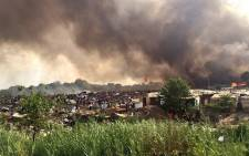 Johannesburg emergency services say around 25 shacks have been gutted in a fire that is spreading in the Msawawa informal settlement in the Kya Sands area. Picture: ER24 EMS @ER24EMS.