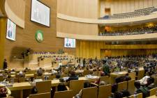 FILE: A wide view of the conference hall at the African Union's headquarters in Ethiopia. Picture: United Nations Photo