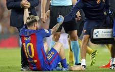 Leo Messi has torn the groin muscle in his right leg and he will be out of action for approximately three weeks. Picture: Facebook.
