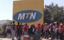 FILE: MTN employees on strike outside their head office in a quest to get better lives. Picture Kgothatso Mogale/EWN.