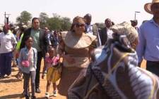 Gauteng Premier Nomvula Mokonyane addressed hundreds of South Africans who gathered at the Cradle of Humankind on Tuesday to celebrate Heritage Day. Picture: EWN
