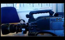 A picture of the camera stolen from SABC crew on Tuesday, 16 April. Picture: YouTube.