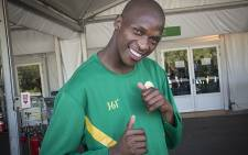 FILE: South Africa's Luvo Manyonga poses at the Olympic Village in Rio de Janeiro after having won silver at the 2016 Olympic Games. Picture: Reinart Toerien/EWN.