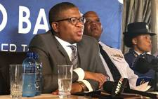 FILE: New Police Minister Fikile Mbalula at an official police welcoming parade at the SAPS training college in Pretoria West. Picture: Kgothatso Mogale/EWN.