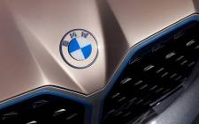 BMW showed its new logo on its Concept i4 electric car.