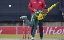 Protea women's spinner Raisibe Ntozakhe in action. Picture: @OfficialCSA/Twitter