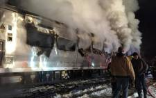A commuter train crashed into an SUV which was stuck on railway tracks in New York. Seven people were killed. Picture: Twitter/@lohud