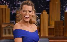 "FILE: Blake Lively during a segment on ""The Tonight Show Starring Jimmy Fallon"" at Rockefeller Center on 20 June 2016 in New York City. Picture: Getty Images North America/AFP."