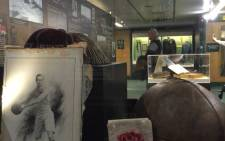 The World Rugby Museum display case. Picture: EWN/Vumani Mkhize