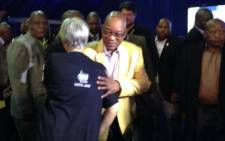 President Jacob Zuma arrives at the IEC's National Results Operations Centre in Pretoria on 8 May. Picture: EWN.