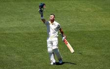 David Warner scored a mammoth 131 in an emotional innings in the first test against India after the death of teammate Phillip Hughes on 9 December 2014. Picture: Cricket Australia.
