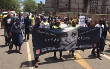 Anti-drug and human trafficking march held in Sunnyside Pretoria on 26 November 2016. Picture: Victor Magwedze/EWN.