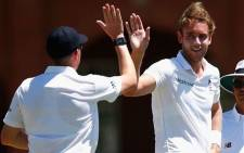 FILE: England fast bowler Stuart Broad (R). Picture: @StuartBroad8.
