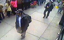 A screen grab image from CCTV footage released by the FBI of the Boston Marathon bombing suspects. Picture: FBI.gov.