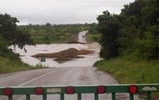 A dam fills up following heavy rains in Pretoria. Picture: Eyewitness News.