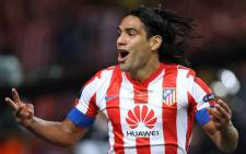 Atletico Madrid's Colombian forward Radamel Falcao. Picture: AFP.