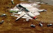 Plane crash in San Francisco. Picture: CNN