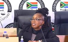 A screenshot of Prasa's  of legal Martha Ngoye at the state capture commission on Tuesday, 1 June 2021. Picture: SABC Digital News/ YouTube.