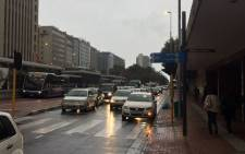 Traffic in Cape Town on 22 April 2016 following heavy rains across the city. Picture: Xolani Koyana/EWN.