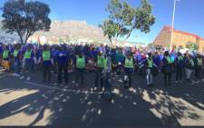 Hundreds of people gathered at Keizersgracht Street as they prepared to march to Parliament on Tuesday 8 August 2017. Picture: Cindy Archilles/EWN