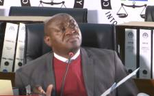 A YouTube screengrab of the provincial head of North West Commercial Crimes Unit Brigadier Pharasa Ncube testifying at the state capture commission of inquiry on 20 August 2020. Picture: SABC/YouTube