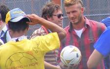 FILE: Soccer star David Beckham at a Ikhuzi Primary school in Khayalitsha. Picture: EWN