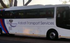 FILE: One of the Kabati Transport buses. The company owns one of the buses that overturned on N1 on 17 April 2016, killing at least 10 ANC volunteers. Picture: kabatitransportservices.co.za.