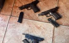 A 36-year-old woman is amongst the six suspects arrested for conspiracy to murder, possession of unlicensed firearms, ammunition and murder of her husband and mother-in-law in Elliotdale. Picture: SAPS.