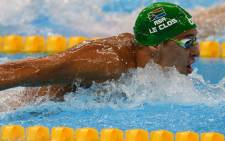 Chad le Clos has won silver in the 100m butterfly. Picture: Twitter @teamsa16.