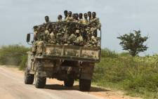 Ethiopian soldiers being transported. Picture: AFP