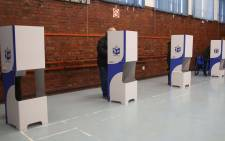 Voting booths setup in the hall of the Pinelands Primary voting station for the 2019 elections on 8 May 2019. Picture: Bertram Malgas/EWN