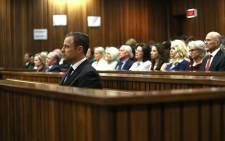 Oscar Pistorius is seen at the High Court in Pretoria on 12 September, 2014 where he was found guilty of culpable homicide. Picture: Pool.