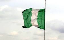The Nigerian flag flies in Lagos. Picture: AFP